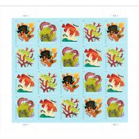 Coral Reef Post Card Stamp